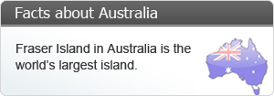 Australia is the 6th largest country in the world.