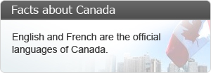 English and French are the official languages of Canada.