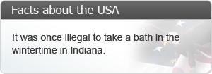 It was once illegal to take a bath in the wintertime in Indiana.