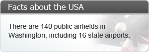 These are 140 public airlines in Washington, including 16 state airpots.